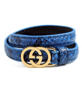 Gucci Leather Bracelet Yellow