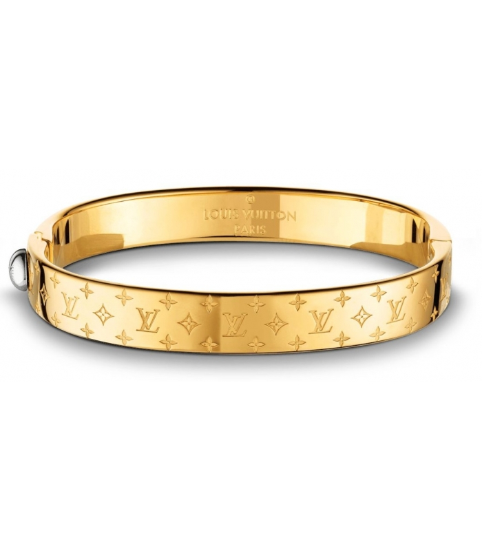 Louis Vuitton Nanogram Cuff Bracelet Gold Love Bracelet