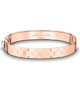 Louis Vuitton Nanogram Cuff Bracelet - Rose Gold