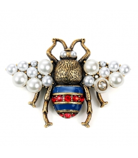 Gucci Brooch Bee Pearls