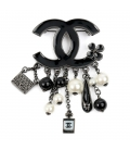 Chanel Brooch Black