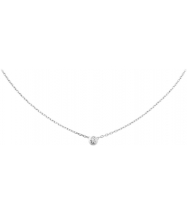 Cartier Diamants Legers Necklace Silver