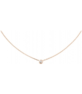 Cartier Diamants Legers Necklace Rose Gold