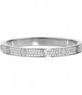 Cartier Love Bracelet - Full Diamonds Silver