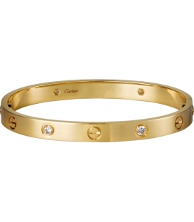 Bratara Cartier Love - Diamonds Gold