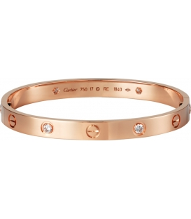 Cartier Love Bracelet - Diamonds Rose Gold