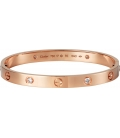 Bratara Cartier Love - Diamonds Rose Gold