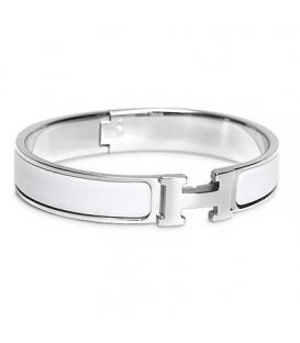 Bratara Hermes Click H White Silver