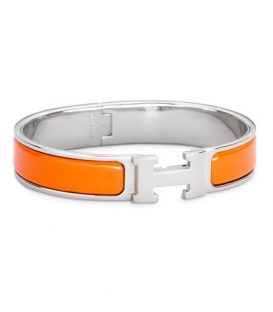 Hermes Click H Orange Silver