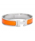 Bratara Hermes Click H Orange Silver