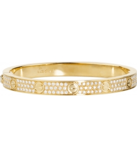 Bratara Cartier Love - Full Diamonds Gold
