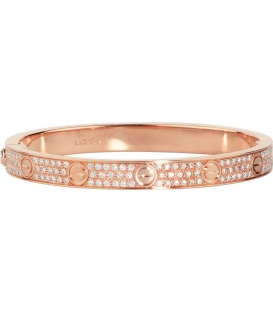 Bratara Cartier Love - Full Diamonds Rose Gold