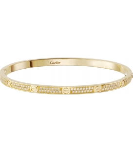 Bratara Cartier Love - Slim Full Diamonds Gold