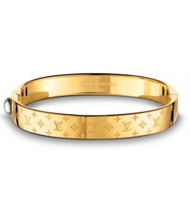 Louis Vuitton Nanogram Cuff Bracelet - Gold
