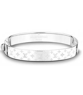 Louis Vuitton Nanogram Cuff Bracelet - Silver
