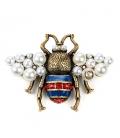 Brosa Gucci Bee Pearls
