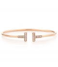 Bratara Tiffany & Co. T Wire Rose Gold