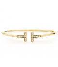 Bratara Tiffany & Co. T Wire Gold