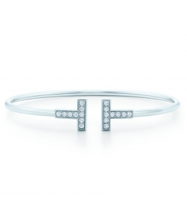 Bratara Tiffany & Co. T Wire Silver
