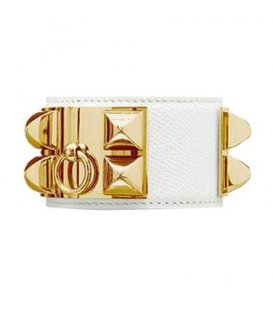 Bratara Hermes Collier de Chien White Gold
