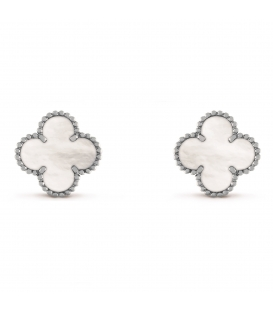 Cercei Van Cleef & Arpels Alhambra Silver