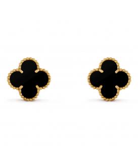Cercei Van Cleef & Arpels Alhambra Gold Onyx