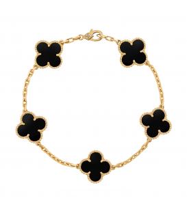 Bratara Van Cleef & Arpels Alhambra Gold Onyx