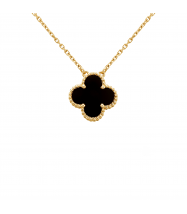 Colier Van Cleef & Arpels Alhambra Gold Onyx