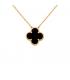 Colier Van Cleef & Arpels Alhambra Gold Onyx